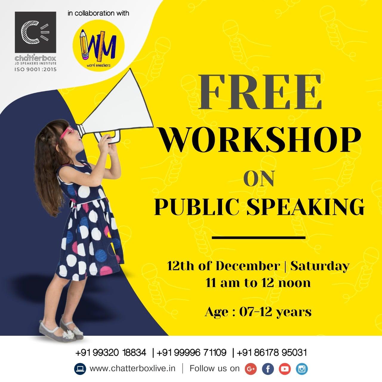 Free workshop on Public Speaking - Chatterboxlive